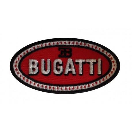 0908 Embroidered patch 8X4 BUGATTI