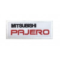 0081 Embroidered patch 10x4 Mitsubishi Pajero