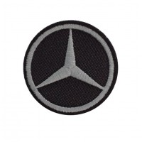 0782 Embroidered patch 5X5 MERCEDES
