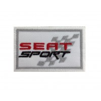 0595 Patch écusson brodé 7X4.5 SEAT SPORT