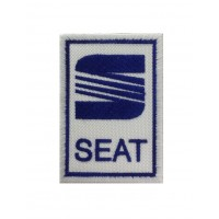 0557 Patch emblema bordado 7x5 SEAT  LOGO 1982-1992