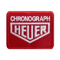 0298 Parche emblema bordado 8x6 HEUER CHRONOGRAPH TAG