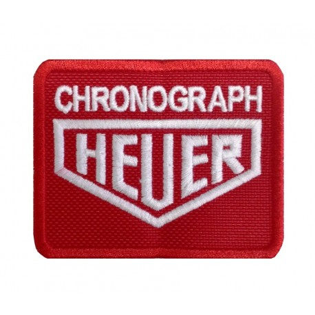 0298 Embroidered patch 8x6 HEUER CHRONOGRAPH TAG