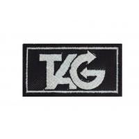 0315 Parche emblema bordado 7x4 TAG