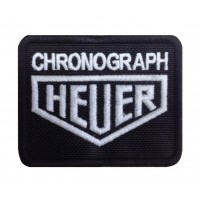 0503 Patch emblema bordado 8x6 HEUER CHRONOGRAPH TAG