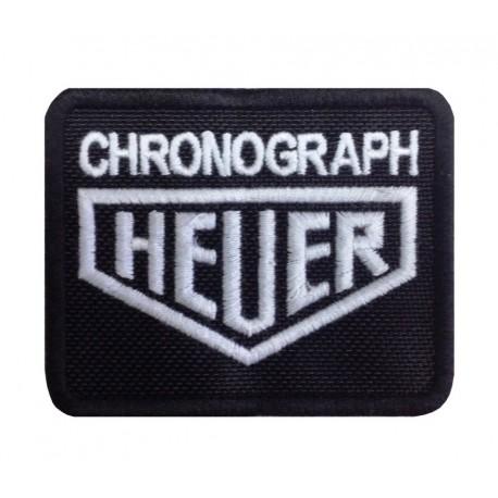 0503 Patch emblema bordado 8x6 HEUER CHRONOGRAPH TAG