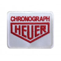 0831 Patch emblema bordado 8x6 HEUER CHRONOGRAPH TAG
