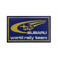 1284 Patch emblema bordado 10x6 SUBARU WORLD RALLY TEAM