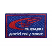 1285 Patch emblema bordado 10x6 SUBARU WORLD RALLY TEAM