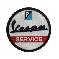 1290 Patch emblema bordado 7x7 VESPA SERVICE