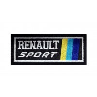 1294 Patch emblema bordado 10x4 RENAULT SPORT