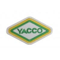 0333 Patch écusson brodé  6x4 YACCO