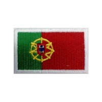 0538 Patch emblema bordado 6X3,7 bandeira PORTUGAL