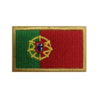 1092 Patch emblema bordado 6X3,7 bandeira PORTUGAL
