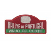 1296 Patch emblema bordado 10x4 RALLYE PORTUGAL VINHO DO PORTO