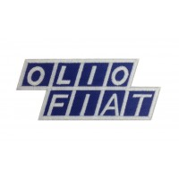 0754 Embroidered patch 12x5 OLIO FIAT