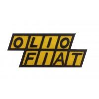 1299 Patch emblema bordado12x5 OLIO FIAT