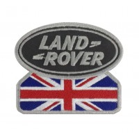 0583 Embroidered patch 9x7 LAND ROVER UNION JACK grey