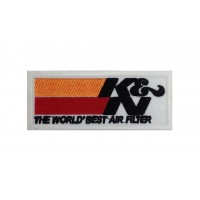 0084 Embroidered patch 10x4 KN AIR FILTER