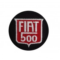 0238 Embroidered patch 7x7 FIAT 500