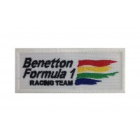 1311 Embroidered patch 10x4 BENETTON FORMULA 1 RACING TEAM