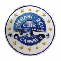 1314 Embroidered patch 22x22 MEHARI 2CV CLUB CASSIS