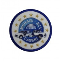1315 Embroidered patch 7x7 MEHARI 2CV CLUB CASSIS