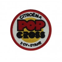 1316 Embroidered patch 7x7 CITROEN POP CROSS 2CV DYANE