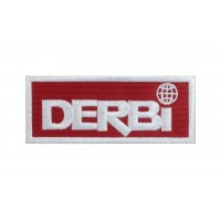1317 Embroidered patch 10x4 DERBI