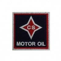 1321 Embroidered patch 7x7 CS MOTOR OIL