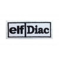 0227 Embroidered patch 10x4 ELF - DIAC Renault 5 maxi turbo