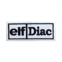 0227 Patch emblema bordado 10x4 ELF - DIAC Renault 5 maxi turbo