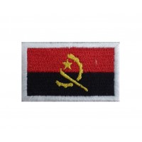 1329 Patch emblema bordado 6X3,7 bandeira ANGOLA