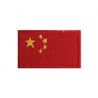 1330 Embroidered patch 6X3,7 flag RP CHINA