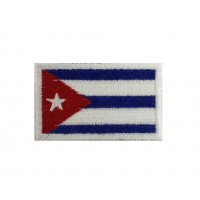 1331 Embroidered patch 6X3,7 flag CUBA