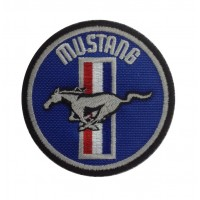 1332 Embroidered patch 7x7 FORD MUSTANG