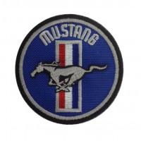 1332 Patch emblema bordado 7x7 FORD MUSTANG