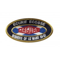 1339 Embroidered patch 10x5  ECURIE ECOSSE WINNER 24H LE MANS 56 57 JAGUAR D-TYPE