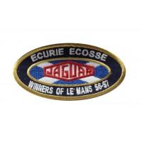 1339 Patch emblema bordado 10x5 ECURIE ECOSSE VENCEDOR 24H LE MANS 56 57 JAGUAR D-TYPE
