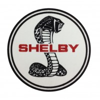1340 Patch emblema bordado 22x22 FORD SHELBY COBRA AC