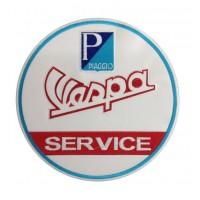 0188 Patch emblema bordado 22x22 VESPA PIAGGIO SERVICE