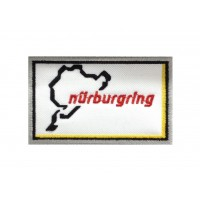 1344 Embroidered patch 10x6  NURBURGRING white