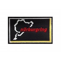 1345 Patch emblema bordado 10x6 NURBURGRING preto