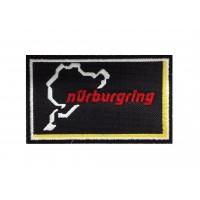 1345 Patch emblema bordado 10x6 NURBURGRING preto