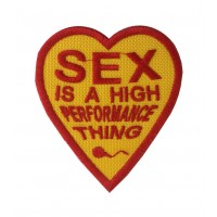 1101 Patch emblema bordado 7X8 Sex is a high performance thing JAMES HUNT HEART