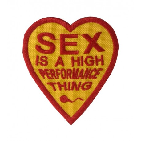 1101 Embroidered patch 7X8 Sex is a high performance thing JAMES HUNT HEART
