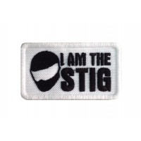 1346 Patch emblema bordado 8x6 I AM THE STIG
