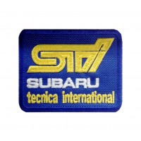 1347 Patch emblema bordado 8x6 SUBARU STI TECNICA INTERNATIONAL