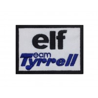 1348 Embroidered patch 8x6 TEAM ELF TYRRELL