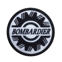 1355 Embroidered patch 7x7 BOMBARDIER